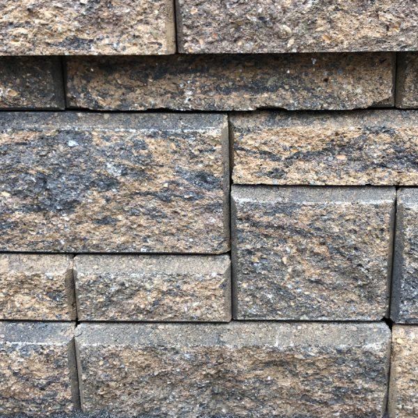 Calstone - Allan Block Collection Wall, Tan Brown Charcoal