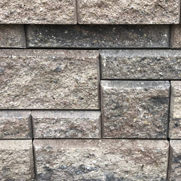 Calstone - Allan Block Collection Wall, Brown Beige Charcoal