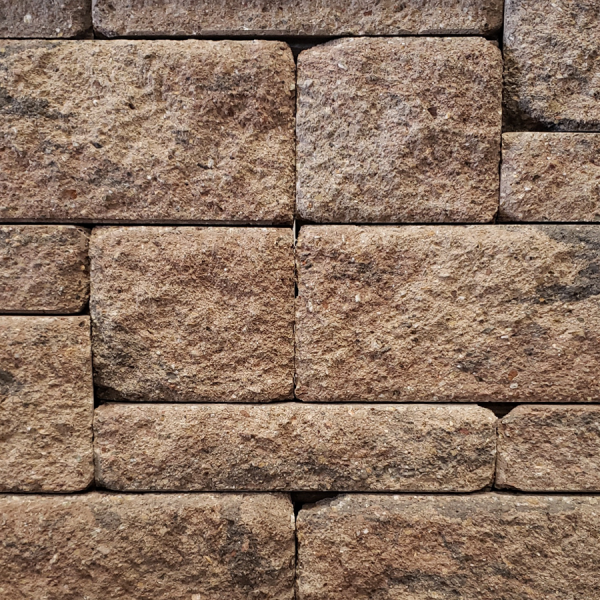 Calstone - Allan Block Europa Collection Wall, Brown Beige Charcoal