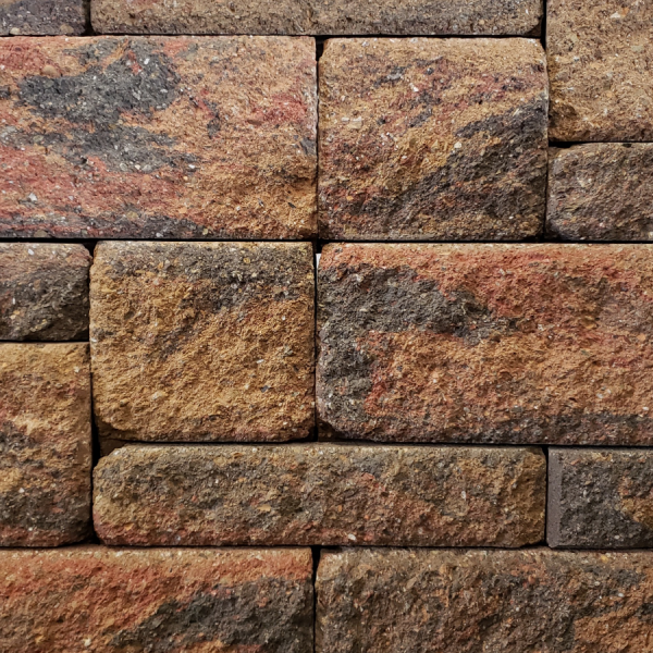 Calstone - Allan Block Europa Collection Wall, Tan Red Charcoal