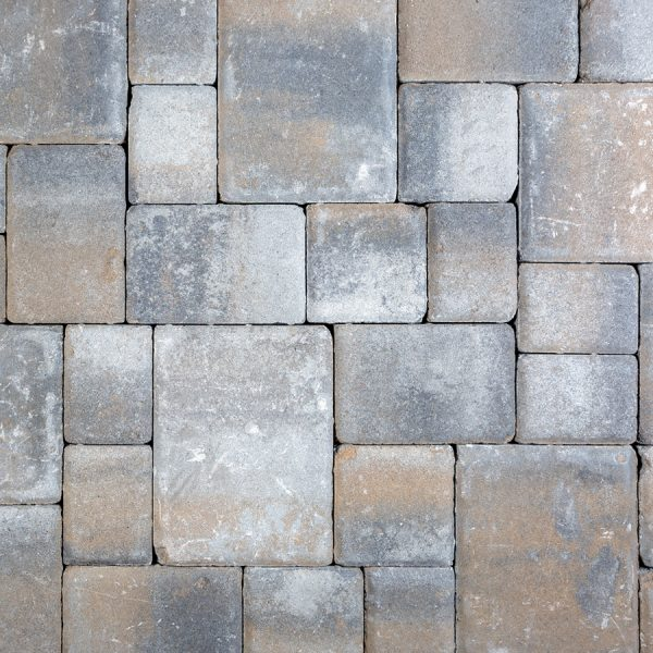 Calstone - Antiqued Cobble, Gray Charcoal Tan